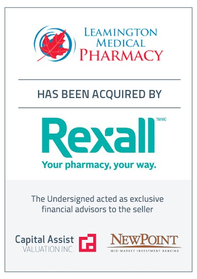 Transaction Announcement: Leamington Medical Pharmacy